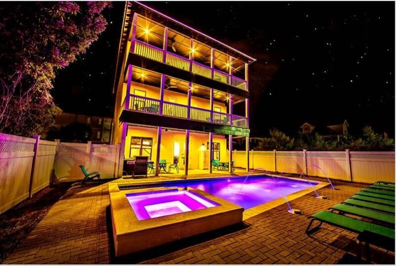 Rear of Home Featuring Private Pool