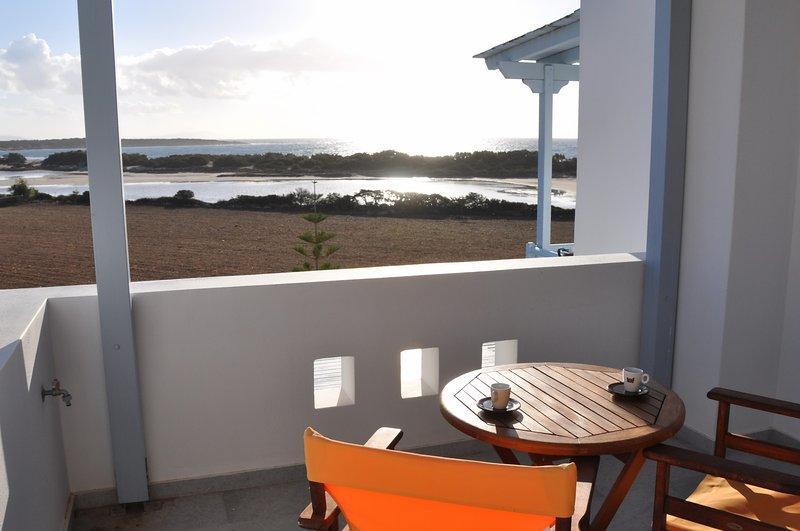 Glyfada Studio with sea view, holiday rental in Pyrgaki