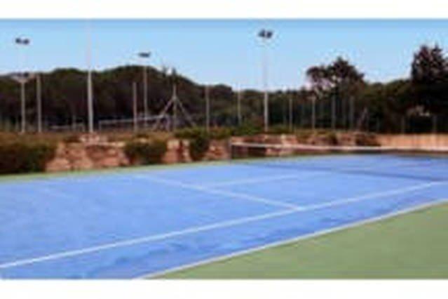 Tennis court in the village.