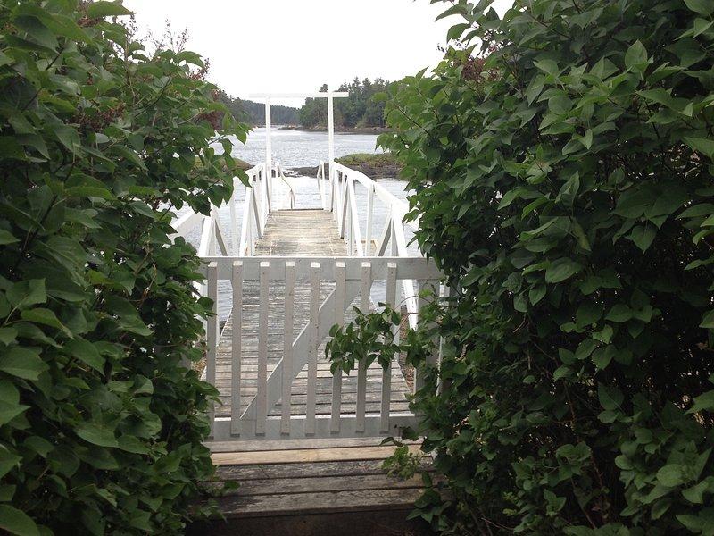 Poort naar het diepe water dock