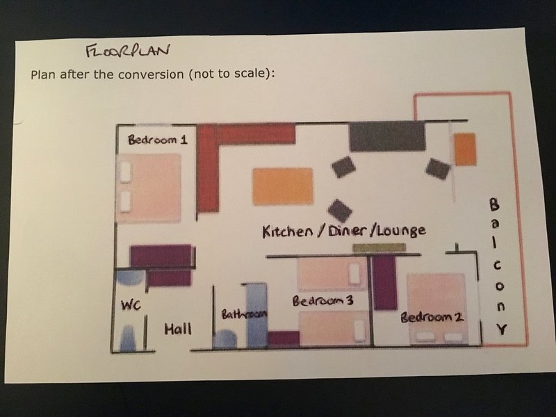 layout do piso para o apartamento