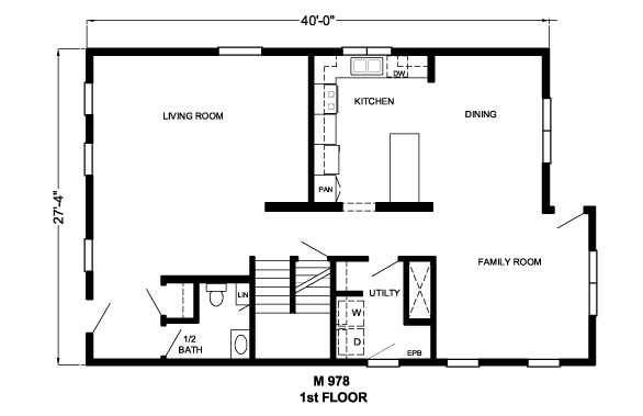 First floor - 2 living areas - front living room plus family kitchen hangout