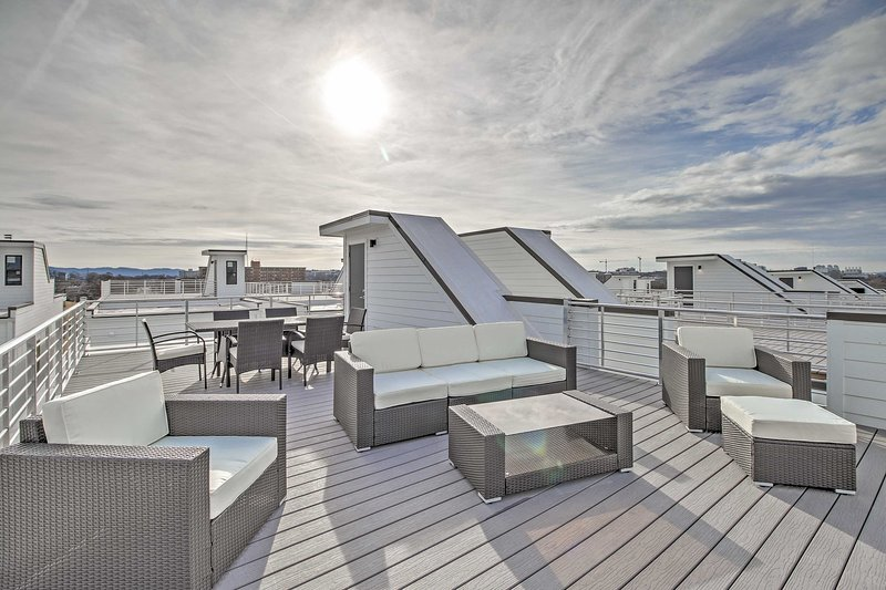 The rooftop area is an ideal place for happy hour or a morning cup of joe.