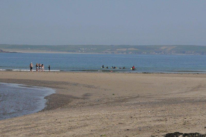 The local beach.