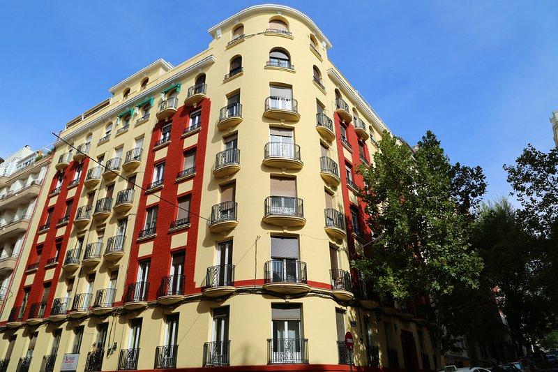 Loft's historical building facade