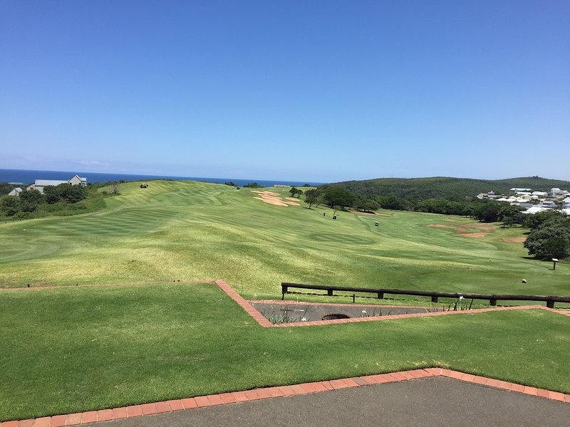 View of the 1st and 10th holes from the clubhouse