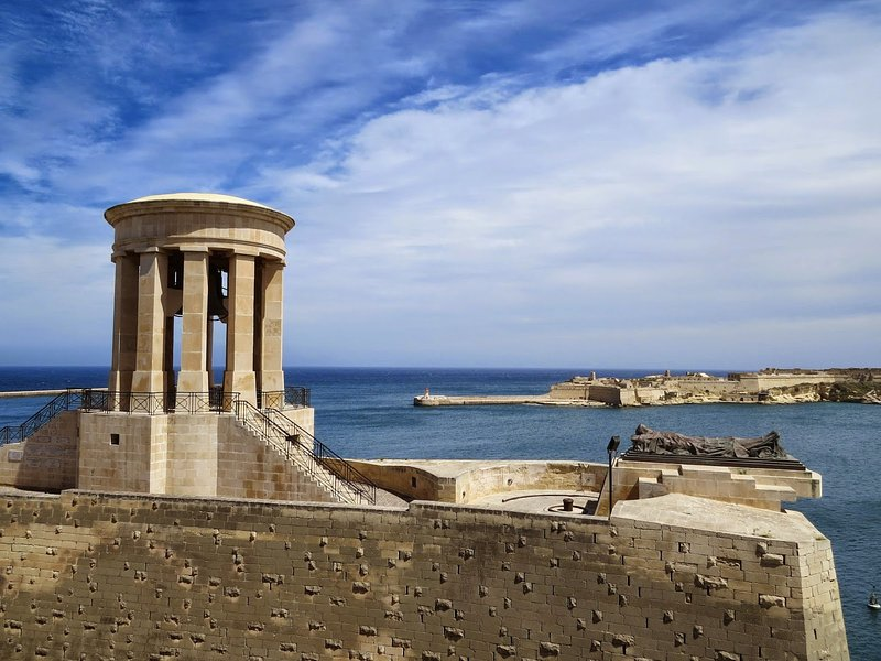 The Seige Bell Memorial is a few steps away from the apartment. Great views of the Grand Harbour