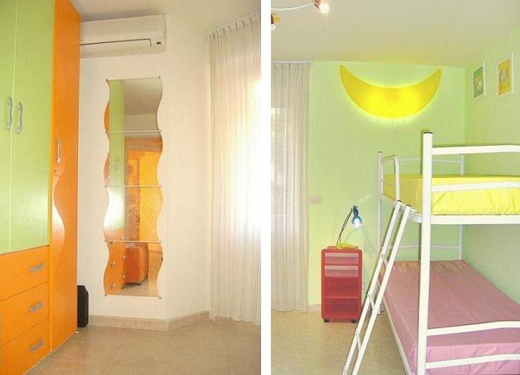 Sovrum våningssäng in closet 3 DÖRRAR