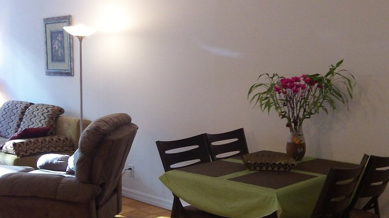 Dining table to enjoy casual dinner as a real New Yorker