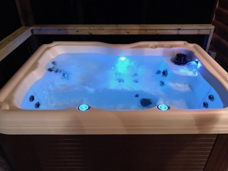 Color Changing Hot Tub