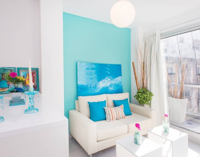 Buenos Aires - Light Blue Terrace - Living Room