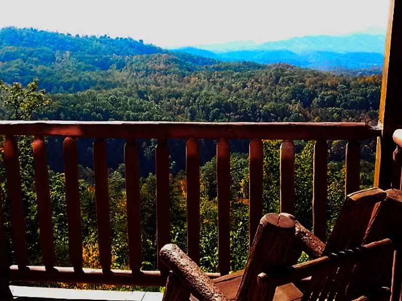 Vue depuis le pont supérieur de pics de cabine Bleu