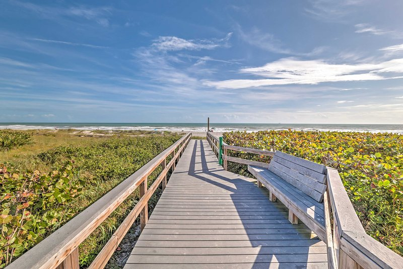 With the beach ride outside, this vacation rental promises a rlaxing retreat!