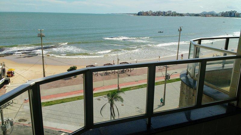balcon donnant sur la mer Guarapari.