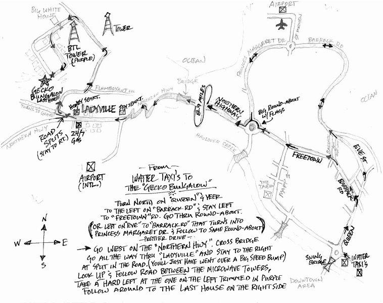 Mapa de T & A partir de taxis acuáticos