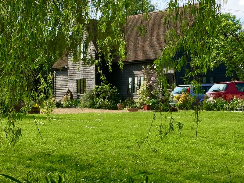 The barn is situated in open rolling country. We live close with 3 acres of garden. Lots of parking.