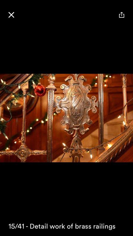 barandillas de bronce vestíbulos