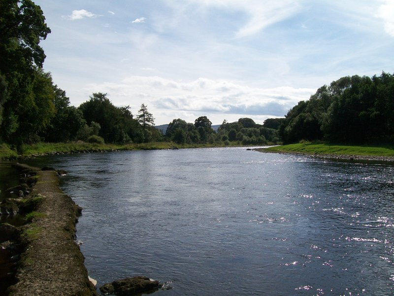 River Spey below cottages