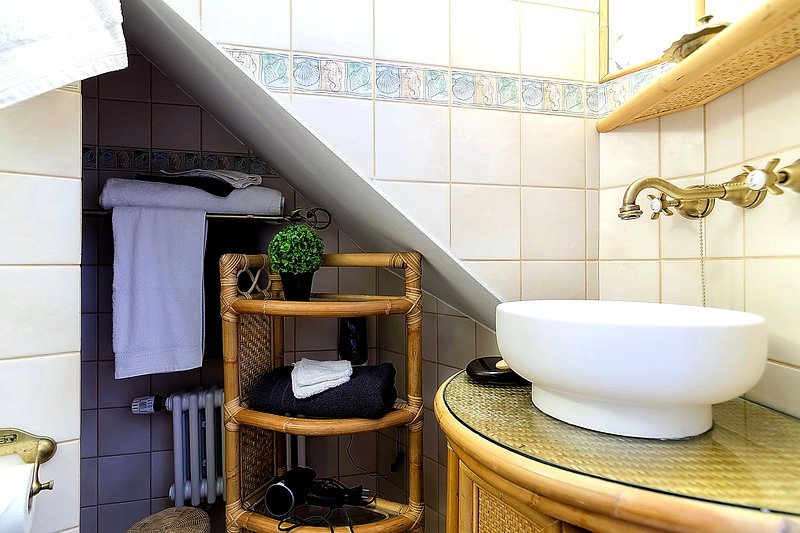 Bathroom with central heating