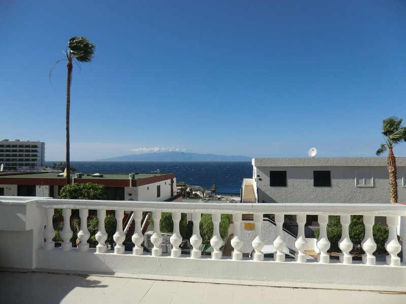 View from the terrace / balcony with the island of La Gomera in the background