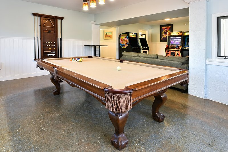 Pool table with ping pong top