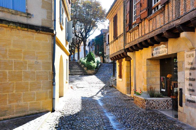 Bergerac. Cobbled Streets.