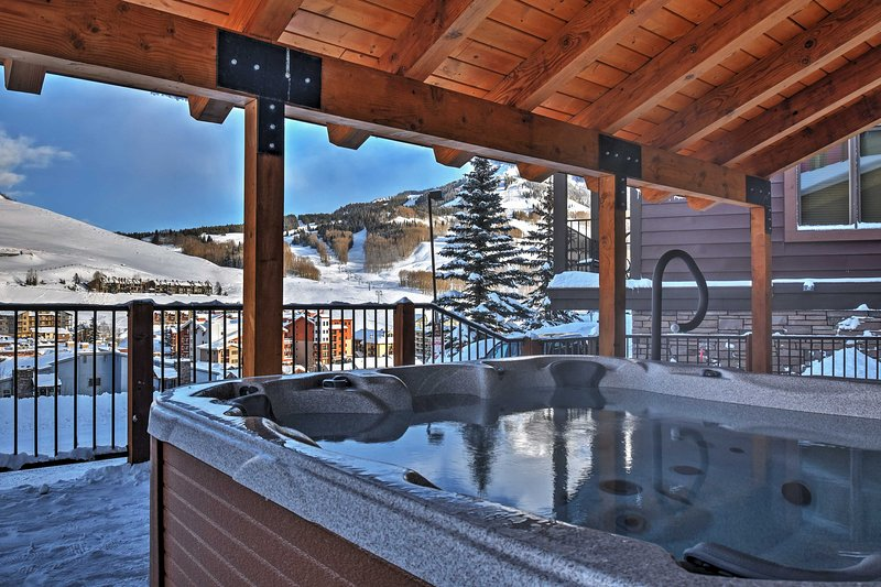 Look forward to soaking away your cares and worries in the community hot tub.