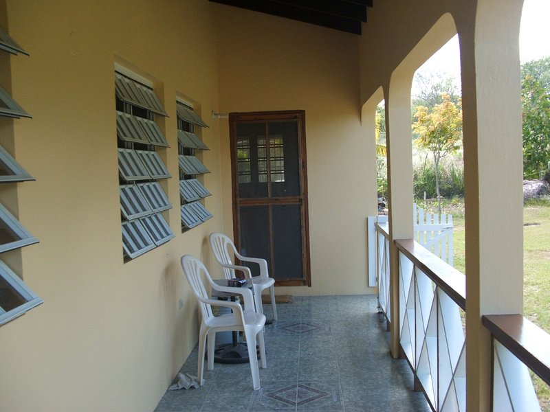 Front balcony with good view of Nevis Peak