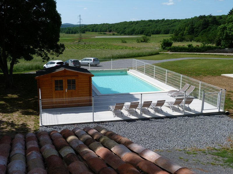 Community pool with 6 cottages