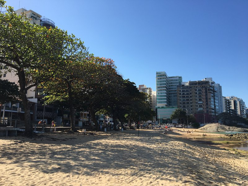 Praia das Castanheiras with lots of shade from the trees.
