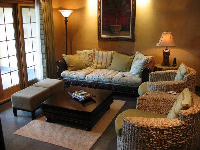 Sala de estar Zona con vistas sobre la piscina