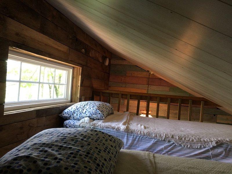 Hummingtbird Haven loft.  2 singles for the kiddos