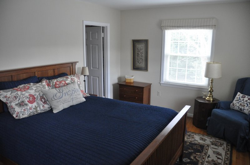 Spacious and comfortable master bedroom, with master bath and lots of windows.