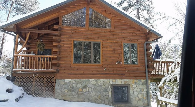Enjoy the cabin in the winter!