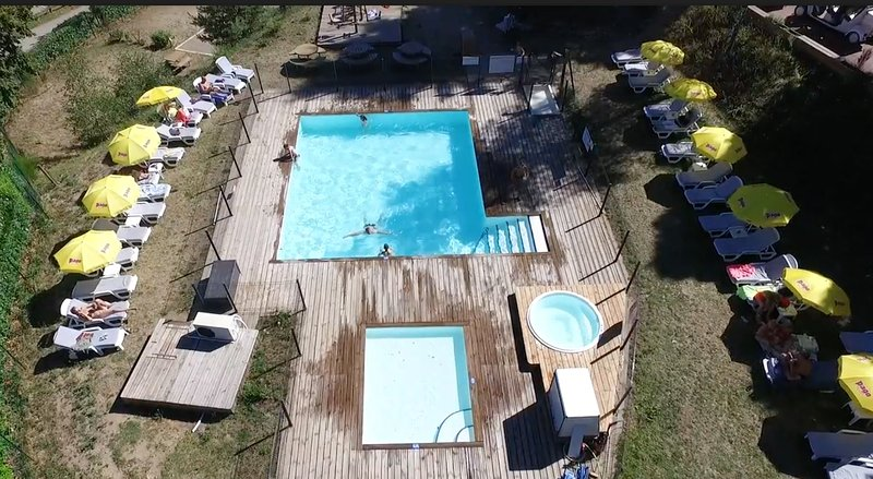 heated spa pool, camping mas sedaires, Lozere, Cevennes Villefort