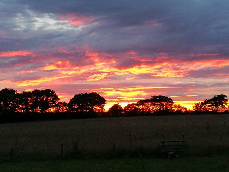 Una preciosa puesta de sol del verano