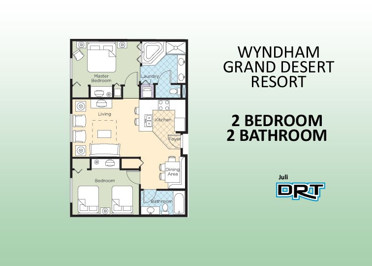 2br Condo 1 Wyndham Grand Desert Near Strip