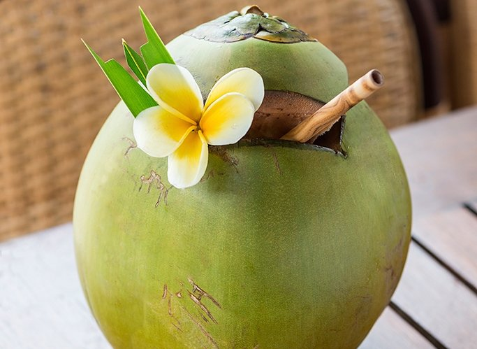 Fresh, young coconuts - full of goodness