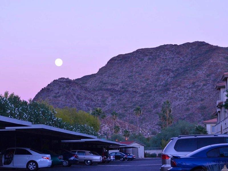 Moonscape Over Resort