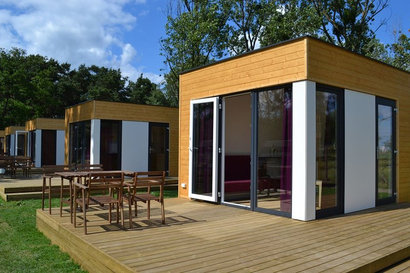 Holiday cabins located 50 meters from the beach