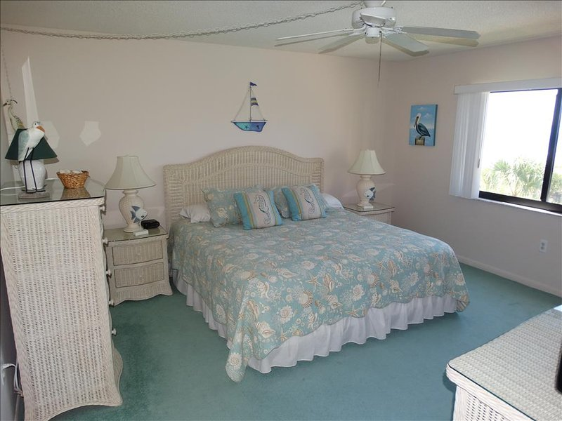 Ceiling Fans in every room at Canaveral Beach 402!  KING MASTER BED!