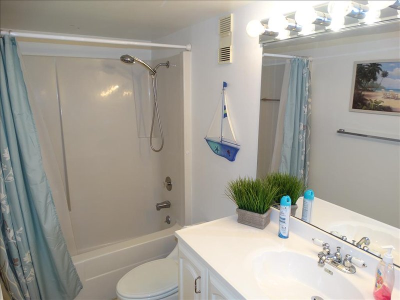 Your Canaveral Beach 402 is 2 Bedroom and 2 Bath.  Check out the Remodeling in the bathrooms!