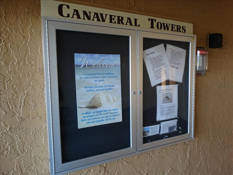 WELCOME to the Canaveral Towers Condo, the FRIENDLIEST Condo anywhere in the Cocoa Beach Area!