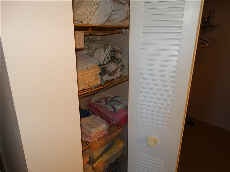 Extra linens and towels!  No need to pack any of that!