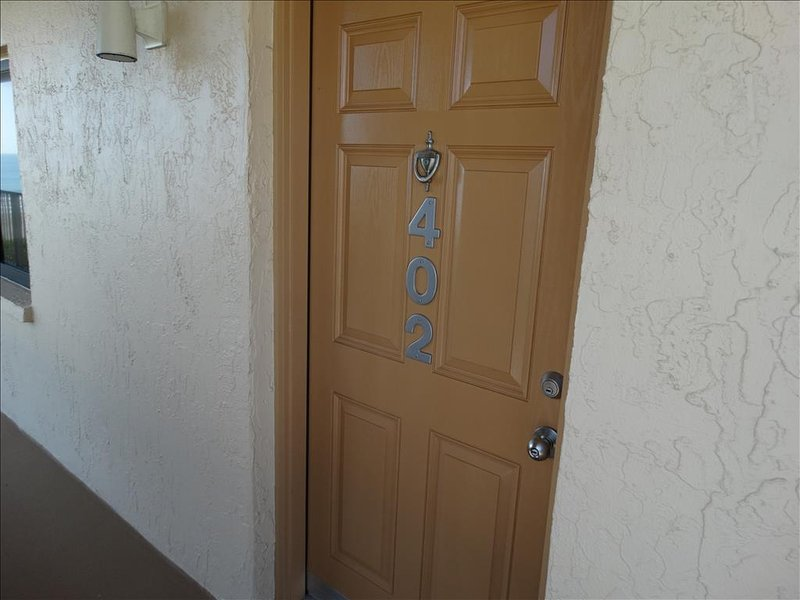 Easy to read door numbers make it a snap to find your unit upon arrival!