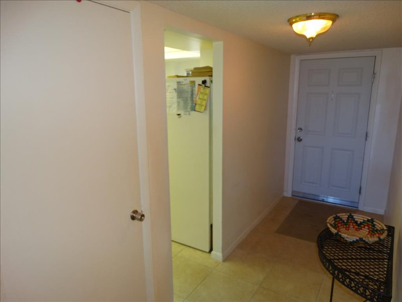 Looking out toward the Front Door, here you can see the ENTRY FOYER.  Well lit and nicely appointed!
