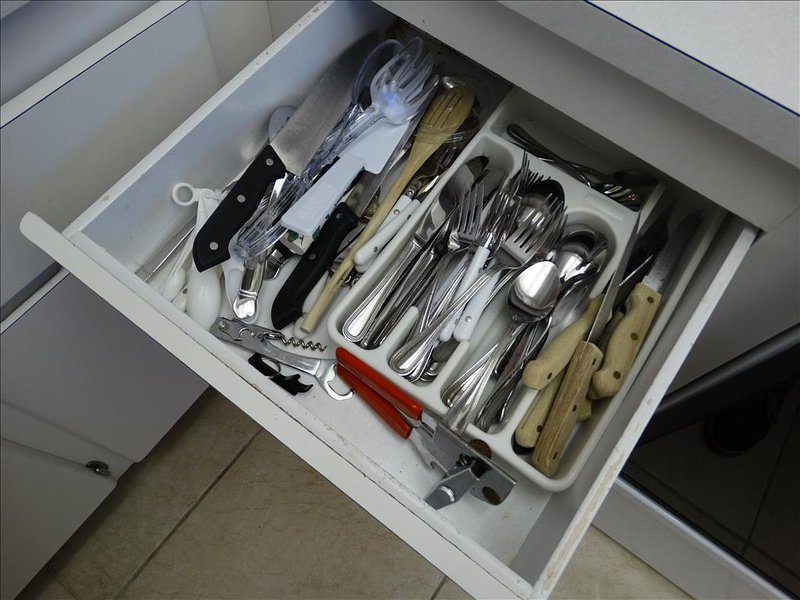 Utensils and silverware are NEVER an issue at Canaveral Beach 402!