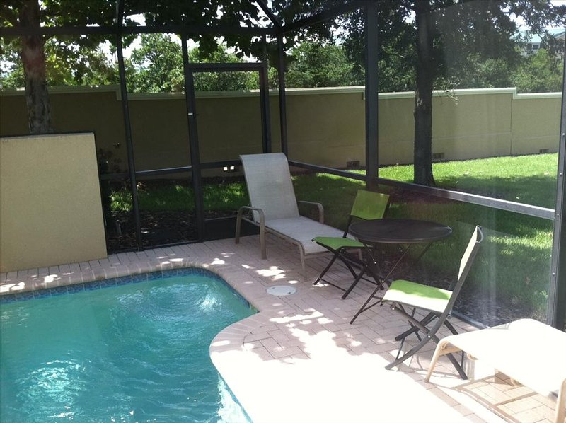 Pool is SOUTH FACING and WATCH SUNSETS over large GREENSPACE!