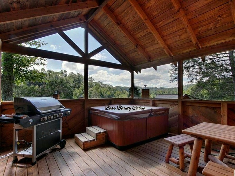 Large deck with views