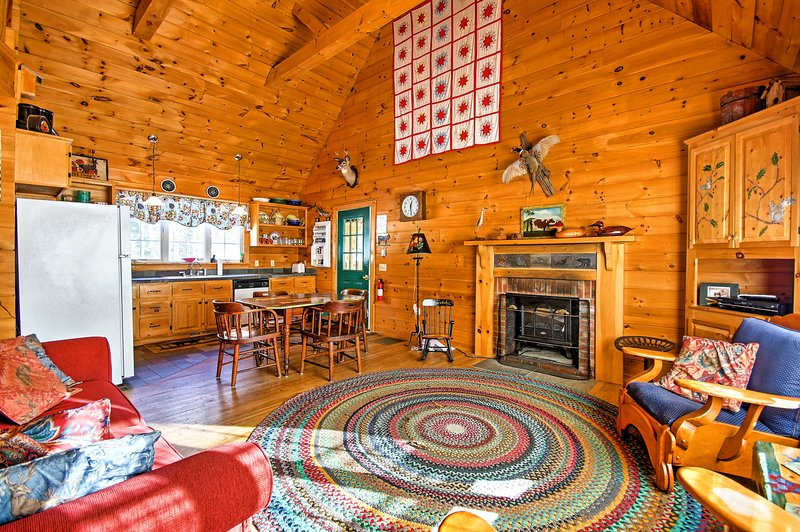 Rustic lumber throughout makes this home cozy and inviting.